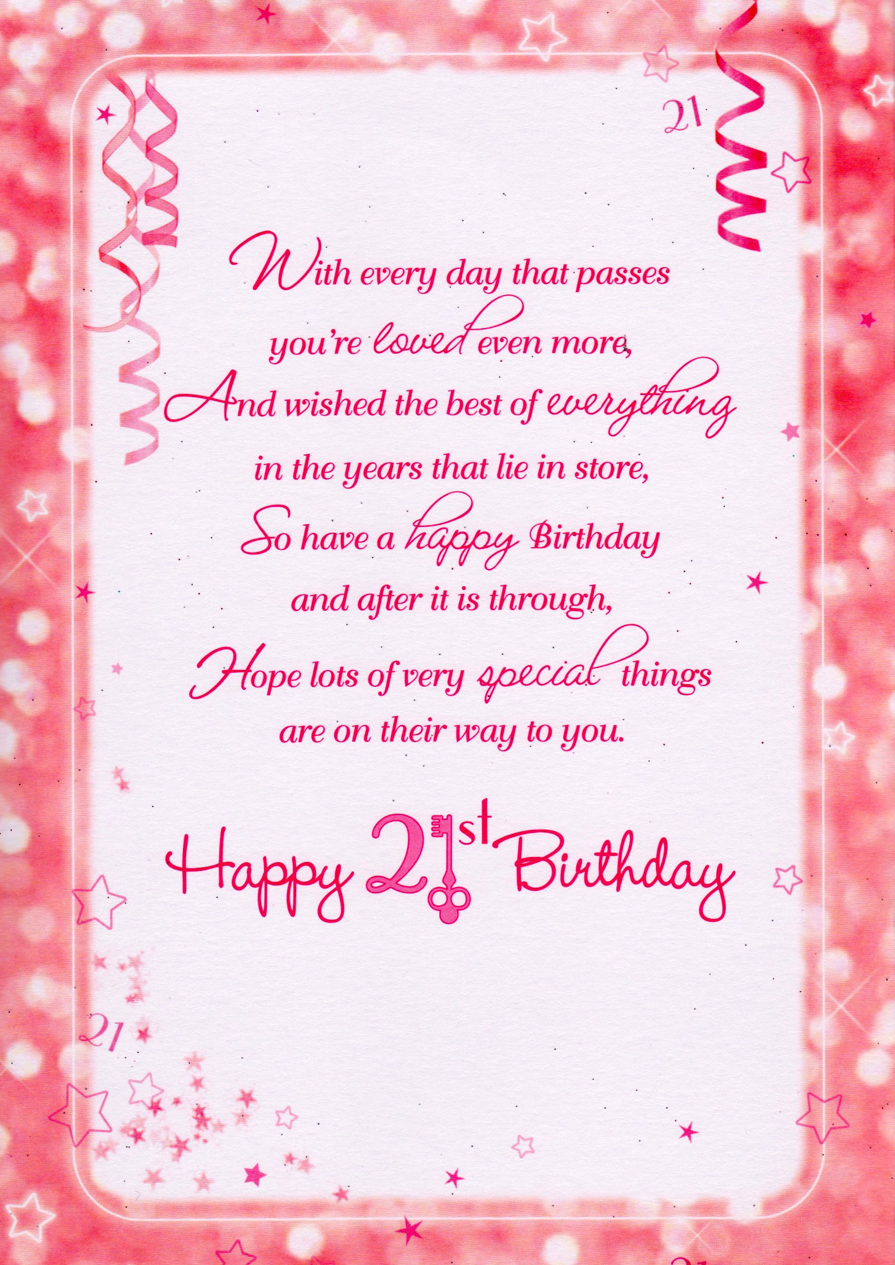 Happy 21st Birthday Wishes Messages And Cards 9 Happy Birthday