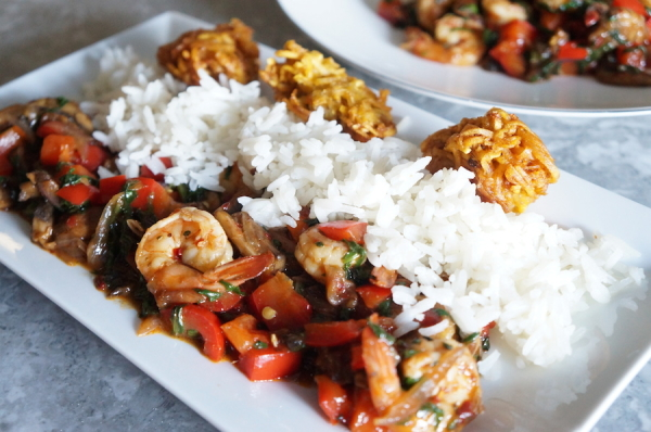 Shrimp - gravy - vegetable - sauce