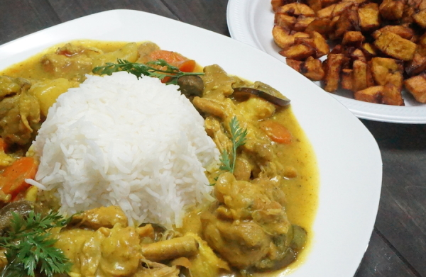 chicken  - coconut - curry - 9jafoodie - recipe - naijafoodie - sauce - gravy