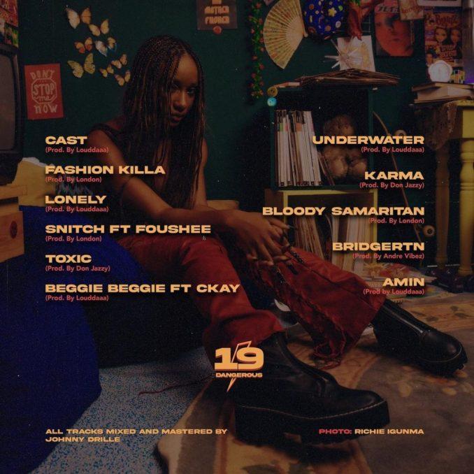 Ayra Starr 19 Dangerous Album Tracklist