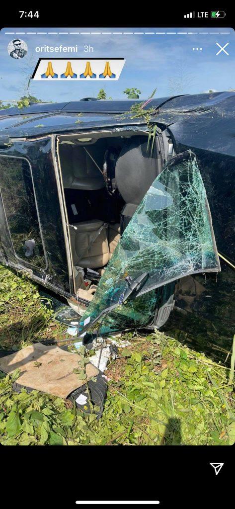 Oritsefemi Car Accident 4