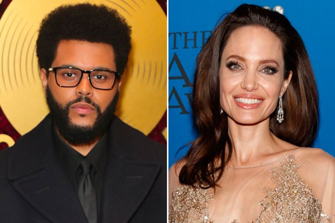 The Weeknd Angelina Jolie