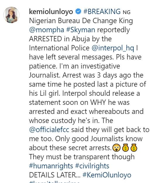"Breaking News!!! Popular Instagram Celebrity ""Mompha"" Arrested By Interpol & Efcc In Abuja"