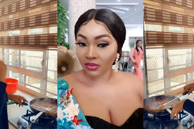 Nollywood actress, Mercy Aigbe gives a glimpse of her beautiful kitchen [Video]