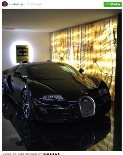 Cristiano Ronaldo Acquires Brand New Bugatti Veyron worth over $2million 1