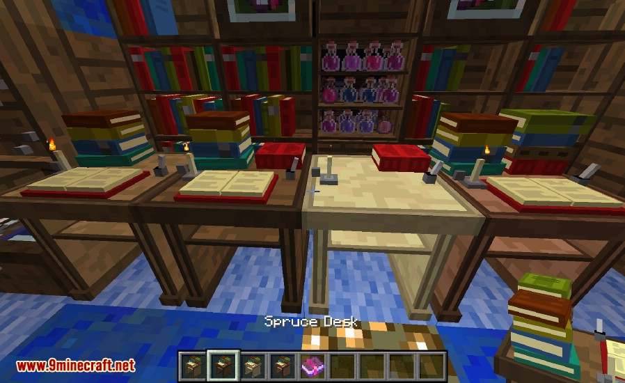BiblioCraft Mod 11221112 Armor Stands Bookcase