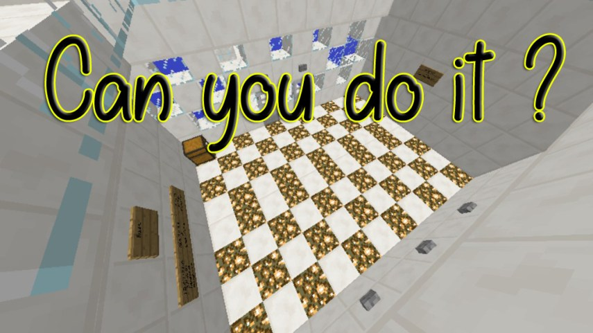 Can You Do It  Map 1 12 2 1 12 for Minecraft   9Minecraft Net Can you do it  Map Thumbnail