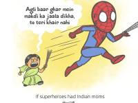 superheroes-with-their-indian-mom_spiderman_9mood-1