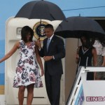 US President Barack Obama, Michelle Obama and Sasha Obama (right) arrive at Jose Marti International Airport on Air Force One for a 48-hour visit to Cuba. Photo: Getty Images Read more: http://www.smh.com.au/world/us-election/obama-makes-history-as-us-relations--with-cuba-thaw-20160321-gnn630.html#ixzz43WIYRTUn Follow us: @smh on Twitter | sydneymorningherald on Facebook