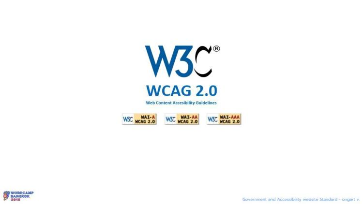 WCBKK 2018 - Gov Web and Accessibility Standard 9