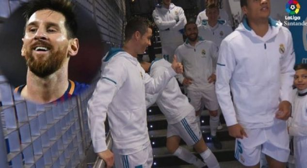 VIDEO: Ronaldo tells to the little boy: Messi is bad