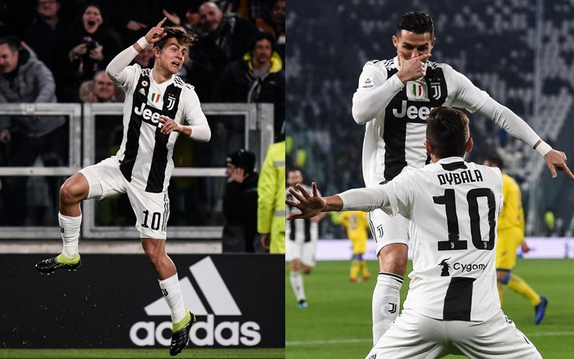 Paulo Dybala and Cristiano Ronaldo create joint celebration together