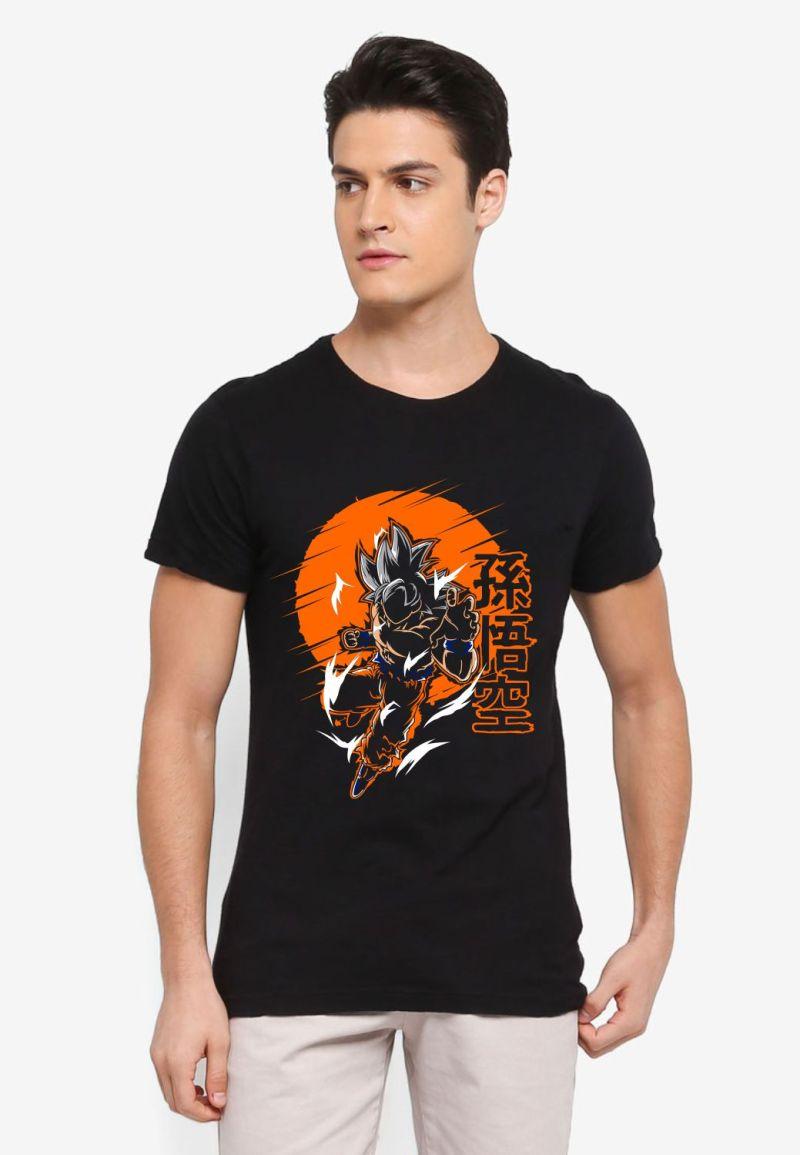 buy goku super saiyan black tshirt only on 9tails apparels
