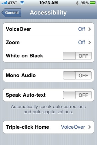 iphone voiceover