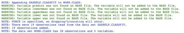 Proc datasets