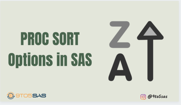 Proc Sort Options in SAS