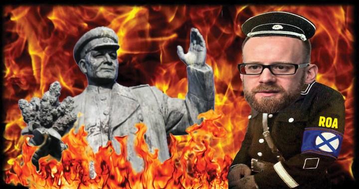 Starosta Kolář zešílel? Chce postavit pomník Hitlerovým vojákům a sochu skutečného osvoboditele Prahy dát do sběru. Hrozí diplomatický a obchodní konflikt na nejvyšší úrovni