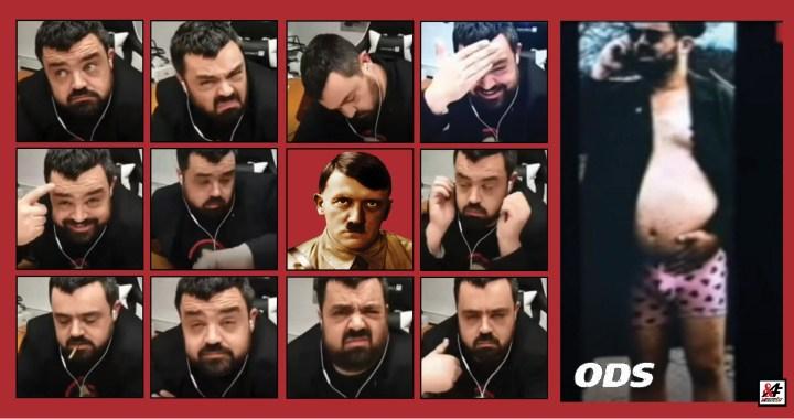 """Drsné video: Zhulený Magor z Řeporyjí (ODS) obhajuje Hitlerovi Vlasovce v živém rozhovoru s ruskou televizí Rusko 1. """"Vyřiďte tomu zfetovanému pánovi, že…"""" Pitvoří se, plácá do čela, v ruce drží jointa a mele nesmysly. Pořad vidělo přes 250 milionů diváků"""