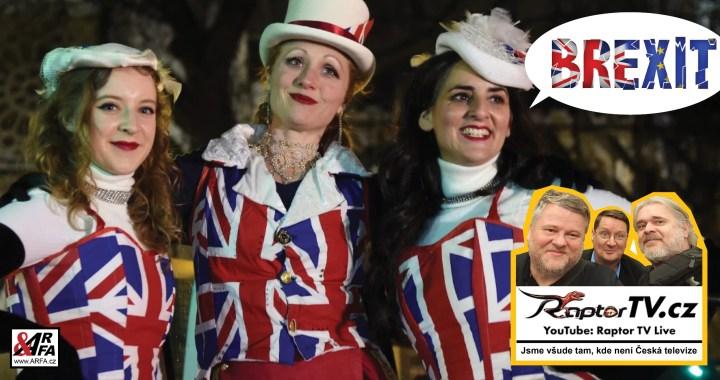 Oslavy Brexitu: Konečně svoboda! Exkluzivní reportáž uprostřed jásajícího davu v Londýně. Raptor TV –  Všude tam, kde není Česká televize. Poselství Borise Johnsona v plném znění. VIDEO
