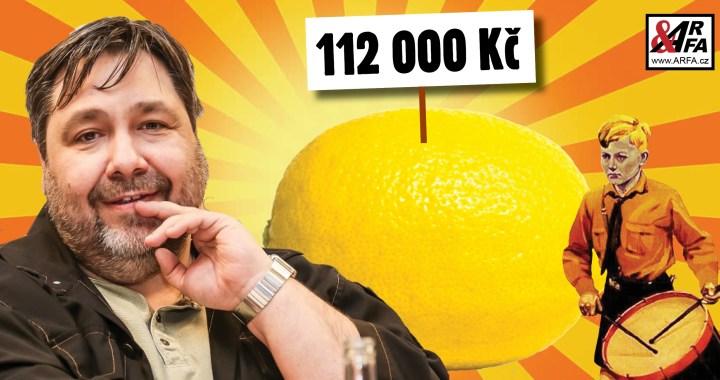 """Tak přece! Moderátor Xaver Veselý vydražil anticenu Zlatý citrón za závratných 112 tisíc korun! """"Lidé pojali aukci jako výsměch České televizi,"""" říká expert"""