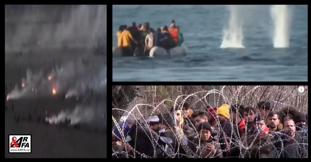 Právě teď: Řecká armáda střílí po imigrantech ve člunech. Letecké záběry válečné zóny. Masové demonstrace zoufalých občanů na ostrově Lesbos. Média: Jsou to pravicoví extremisté. Evropskou unii řídí Erdogan