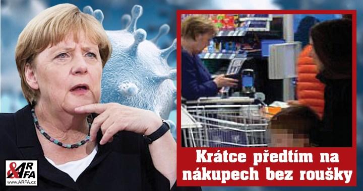 Jejda! Německá kancléřka Merkelová v karanténě kvůli koronaviru. Krátce předtím na nákupech bez roušky a setkání s premiéry všech spolkových zemí…