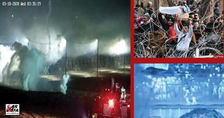 Ve stínu koronaviru: Tvrdé střety na řeckých hranicích, 500 migrantů se pokusilo rozbít plot. VIDEO. Požár a koronavirus v migrantském táboře. 10 tisíc migrantů se letos probilo přes řecké hranice.