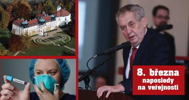 Koronavirus: Strach o zdraví prezidenta Miloše Zemana (75). Projev v televizi – proč předtočený? Prezident se neobjevuje na veřejnosti. Zrušil návštěvu Číny…