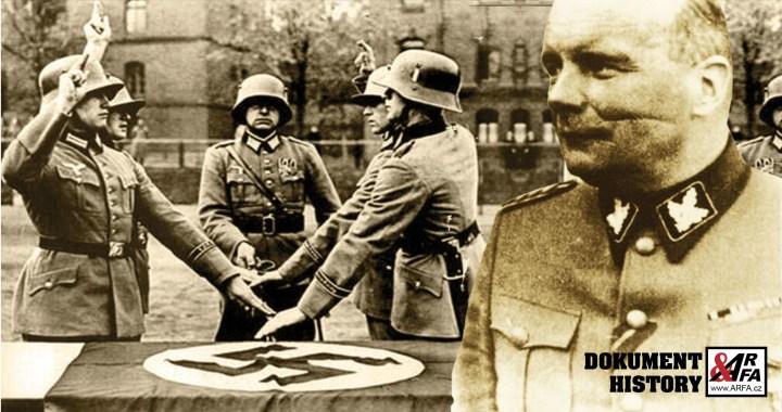 """Poslední esesák: """"Krvavý hrabě"""" generál Karl von Pückler, pan Jizva. 12. května 1945 spáchal sebevraždu na půdě domu u demarkační linie. Byl to poslední výstřel II. světové války. Předtím popravil dceru (†5) své sekretářky (†28). Utajený masakr a bitva u Slivice."""