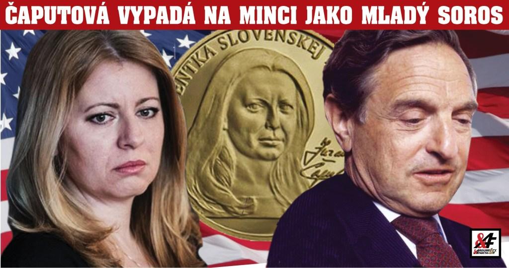 Jejda! Prezidentka Čaputová vypadá na nové minci jako George Soros! Miliardář v pozadí kariéry bývalé aktivistky ze skládky. Na stopě autora mince: Udělal to schválně?