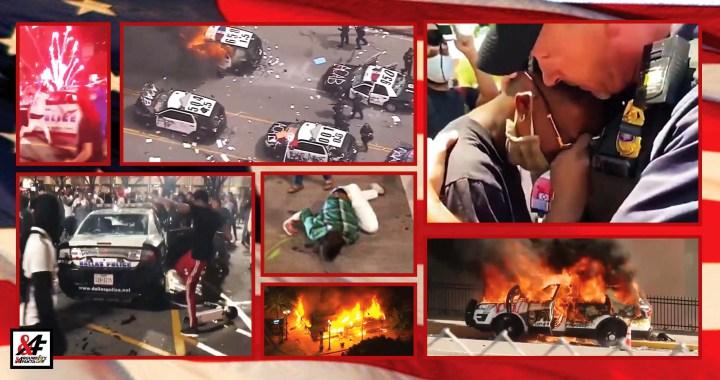Jen pro otrlé: VIDEO (5 minut) posledních sedmi dní z občanské války v USA. Co dokáže ANTIFA. Rabování, mlácení lidí, zabíjení, zapalování aut, útok na sídlo televize CNN… To opravdu není o rasismu
