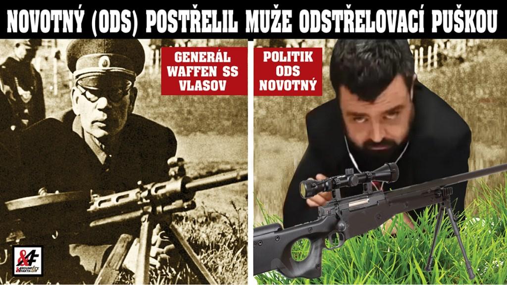 To už je moc! Waffen SS Novotný (ODS) pod vlivem drog postřelil z okna muže odstřelovací puškou. Pořídil si ji na údajné nepřátele. Paranoia? Politik je teď též dvakrát trestně stíhán kvůli vyhrožování smrtí