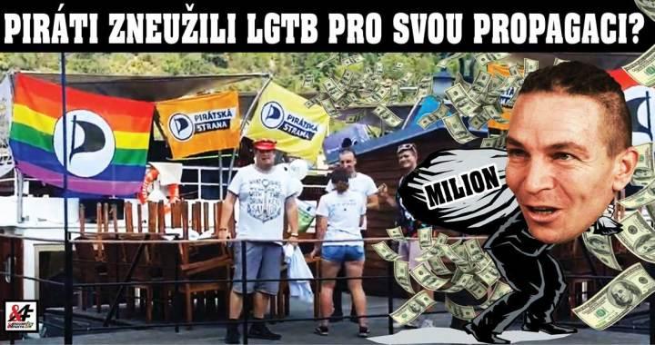 Ukradli Piráti milión z městské kasy? VIDEO. Volební kampaň Pirátské strany jako bizarní akce LGTB Prague Pride za peníze daňových poplatníků. Rekordní suma za pochod, který nebyl. Dělají si z nás soudruzi srandu?