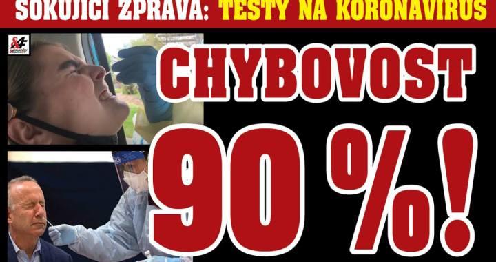 """Šokující zpráva: Až 90 % testů na koronavirus je lživých, uvedl deník New York Times. V České republice tak počet """"pozitivních"""" případů zřejmě není 27 tisíc, ale jen pouhých 2,7 tisíce. Opatření vlády jsou hrubě přestřelená"""