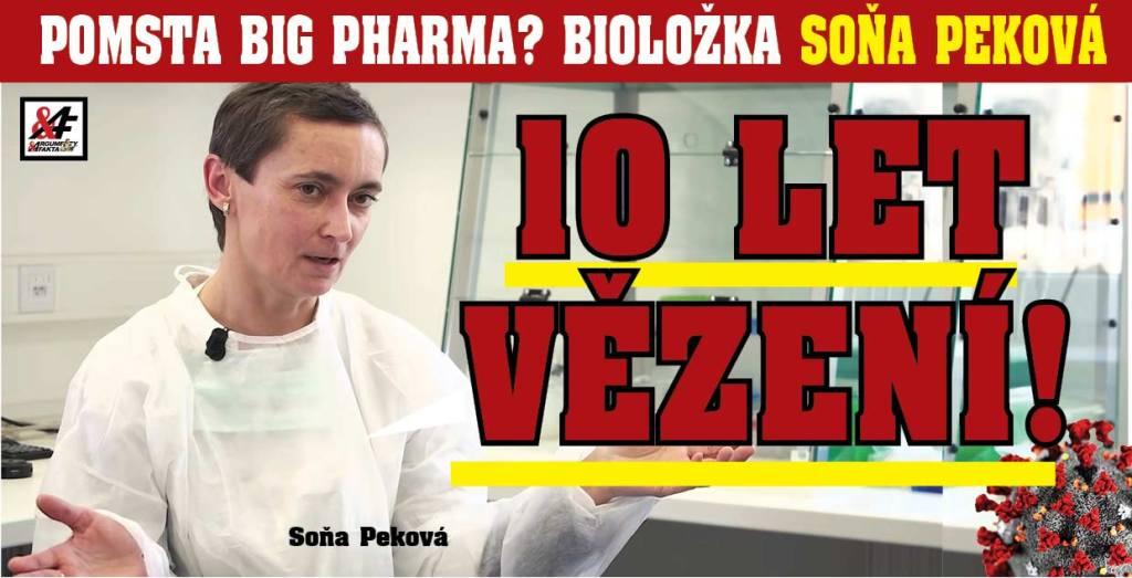 Farmaceutická mafie vrací úder: Bioložce Soně Pekové, která odhalila laboratorní původ koronaviru, teď hrozí 10 let vězení. Pomsta Big Pharma? Chtějí ji umlčet?