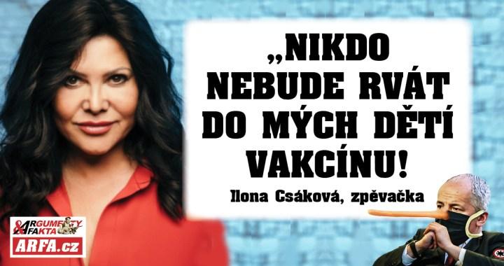 """Ilona Csáková vs. plukovník Prymula: """"Nikdo nebude rvát do mých dětí vakcínu! Je třeba je před tím chránit!"""" Tvrdě proti korona-podvodu."""