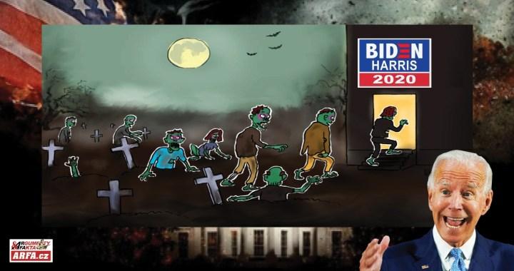 """USA zombie-volby: """"21 tisíc mrtvých voličů v registru ve státě Pensylvánie"""", potvrdil soud. Rozhodnou o vítězství Bidena mrtvoly? Množí se důkazy, že jsme svědky největšího volebního podvodu v dějinách USA"""