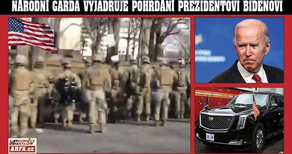 """""""Bidene, tys tyhle volby nevyhrál, jsi lhář a podvodník!"""" Absolutní pohrdání: Národní garda se při inauguraci otočila zády k prezidentovi Bidenovi (VIDEO). Historicky poprvé!"""