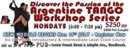 Latin Dance Master Workshop, After De Storm All-Dance Party and Argentine TANGO Workshop Series