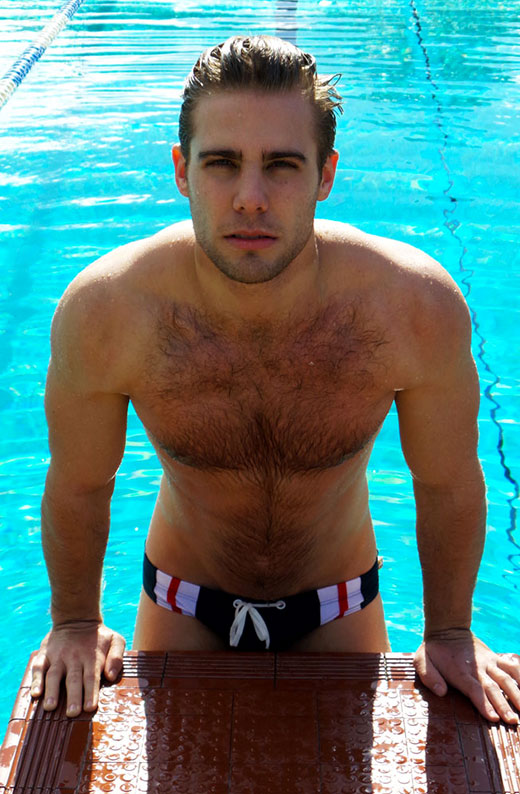 Pool Photos of a cute guy wearing speedos
