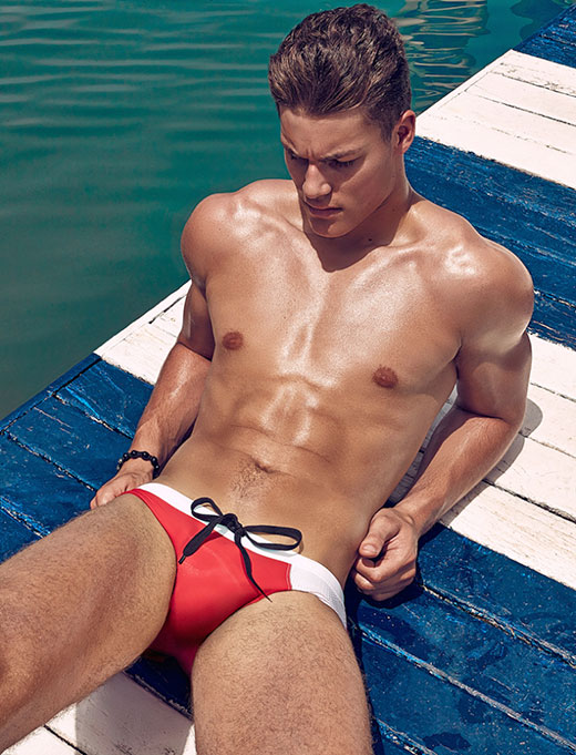 Red Speedo Model