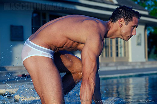 See Through White Speedo