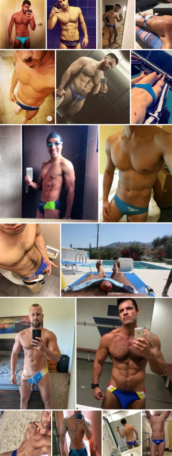 Blue Speedo Selfies