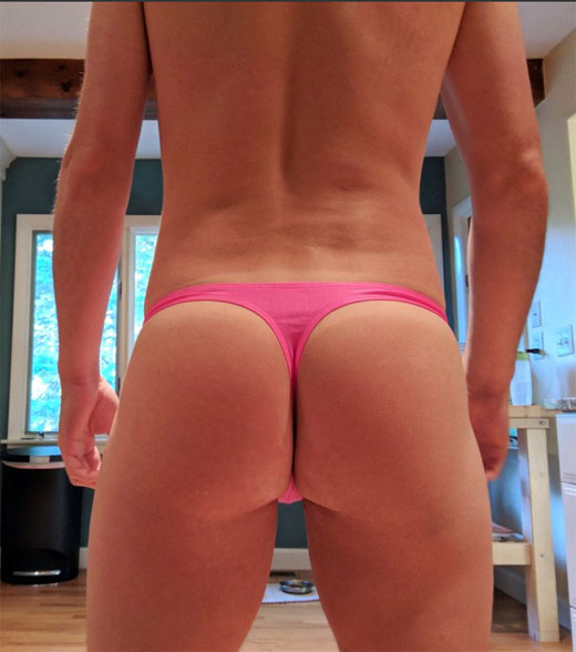 Male Pink Thong