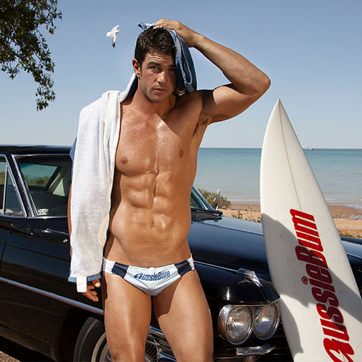 Surfer in AussieBum Speedos