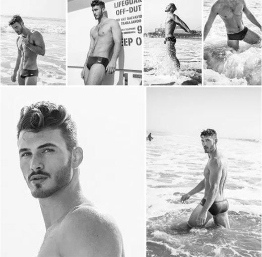 Black and White Speedo Photo Shoot