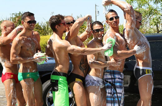 Group of Guys in Speedos