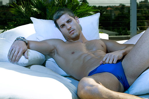 Hunk in Blue Speedos