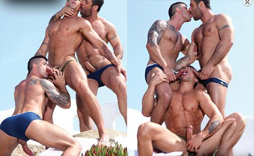 Beach gay orgy