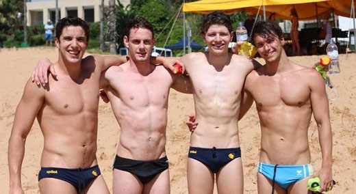 Beach Speedo Boys